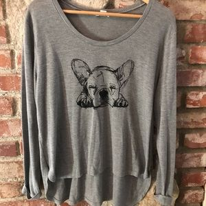 Mossimo Supply Co. Long Sleeve French Bulldog Top